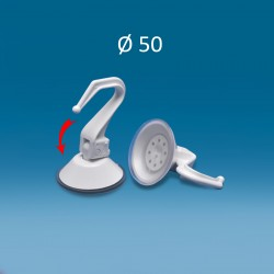 Bel vakuumski prisesek Ø 50, s plastičnim kavljem