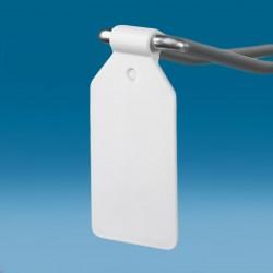 Žepek - za kljukice - bela - D26 V42 Ø4,8