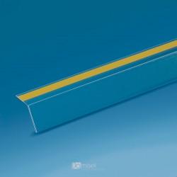 Censka letvica - 105° - prozorno lepilo, znotraj - 1000 x 20 x 20 mm