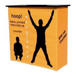 Pop-up tekstilni promocijski pult 94 X 38 X 89 cm